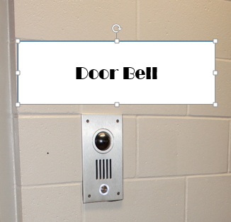 Doorbell – located at each accessible room, linked to provided Sound Ideas tablet